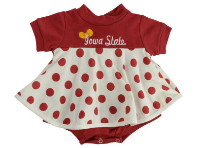 Iowa State Cyclones NCAA Newborn Polka Dot Dress