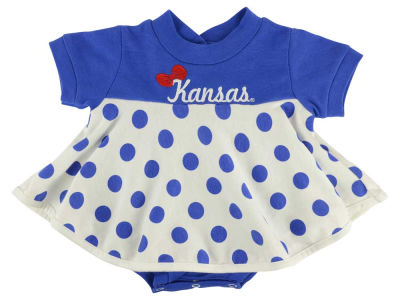 Kansas Jayhawks NCAA Newborn Polka Dot Dress