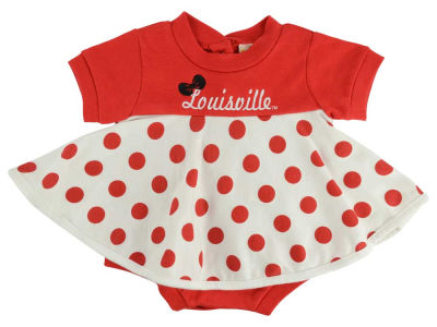 Louisville Cardinals NCAA Newborn Polka Dot Dress