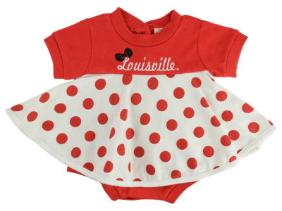 Louisville Cardinals NCAA Infant Polka Dot Dress