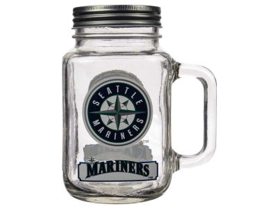 Seattle Mariners 20oz Glass Mason Jar