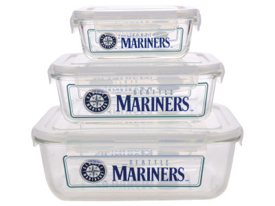Seattle Mariners 3-pack Glass Food Containers