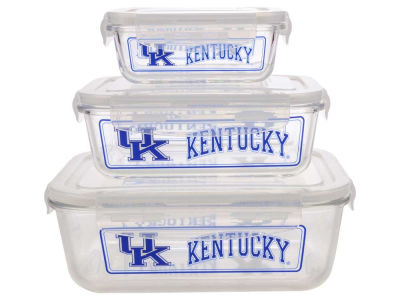 Kentucky Wildcats 3-pack Glass Food Containers