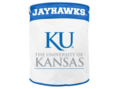Kansas Jayhawks Collapsible Canvas Laundry Basket