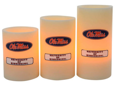 Ole Miss Rebels Flameless Wax Candles