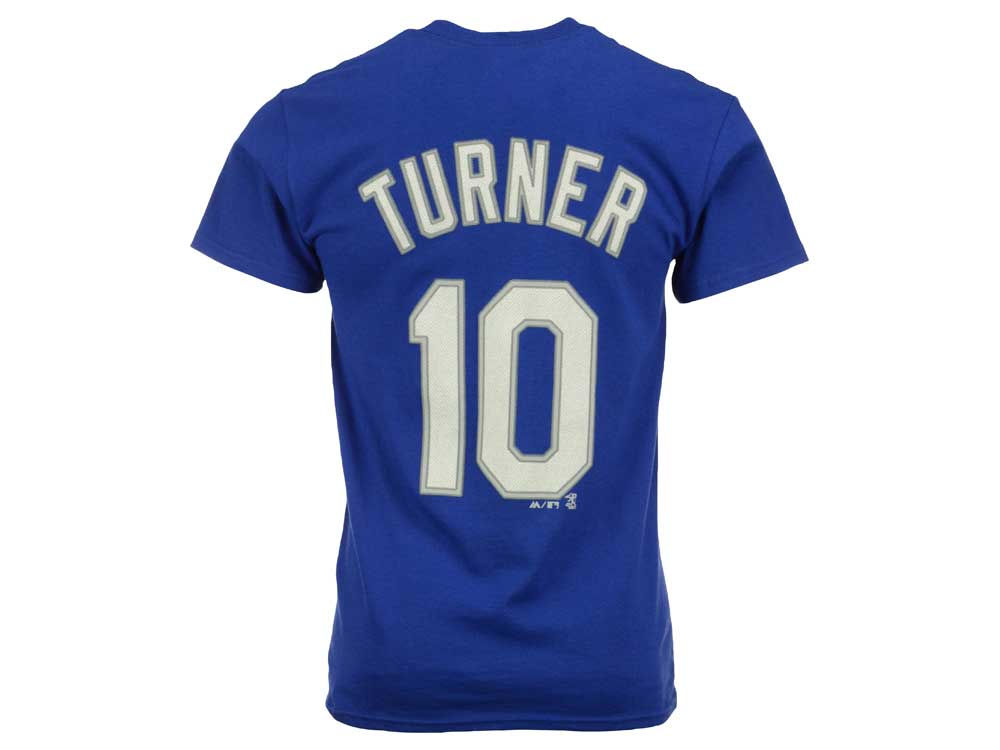 Los Angeles Dodgers Justin Turner Majestic MLB Men s Official Player T-Shirt   b8372aa4d2a