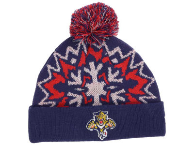 Florida Panthers New Era NHL Glowflake Pom Knit