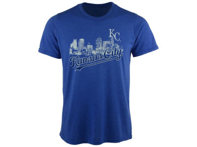 Kansas City Royals Majestic MLB Men's Skyline Triblend T-Shirt