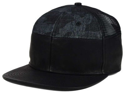No Bad Ideas Leather Camp Snapback Hat