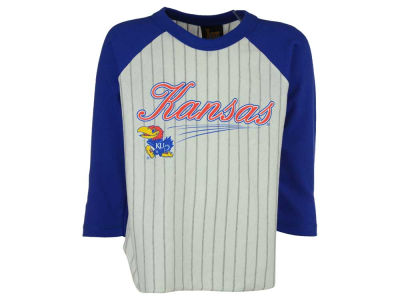 Kansas Jayhawks NCAA Youth 3/4 Sleeve Baseball Raglan T-Shirt