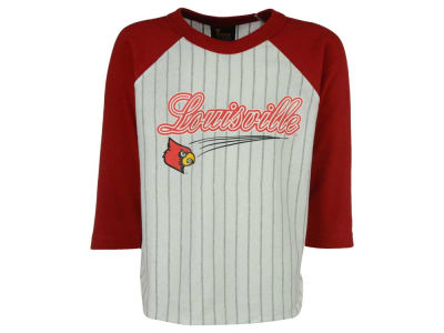 Louisville Cardinals NCAA Youth 3/4 Sleeve Baseball Raglan T-Shirt
