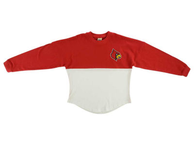 Louisville Cardinals NCAA Youth Girls Two-Tone Sweeper Long Sleeve T-Shirt