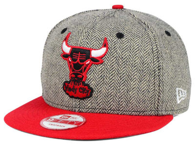 Chicago Bulls New Era NBA Hardwood Classics Houndsteam Snapback Cap