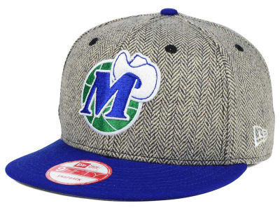 Dallas Mavericks New Era NBA Hardwood Classics Houndsteam Snapback Cap