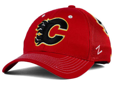 Calgary Flames Zephyr NHL Screenplay Flex Hat