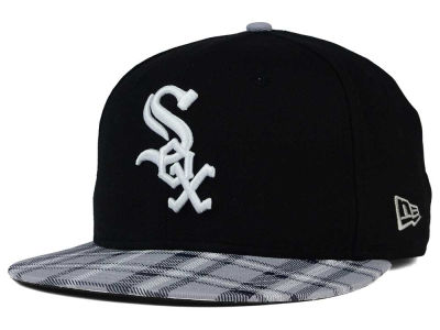 Chicago White Sox New Era MLB Team Plaid 9FIFTY Snapback Cap