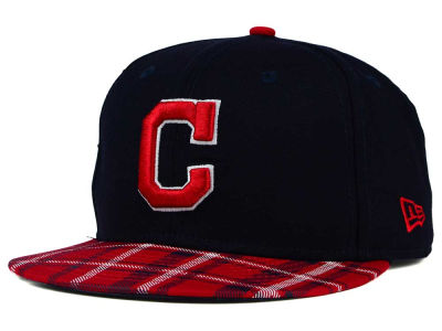 Cleveland Indians New Era MLB Team Plaid 9FIFTY Snapback Cap