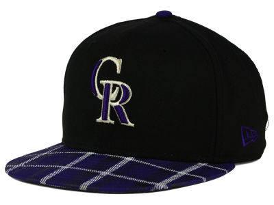 Colorado Rockies New Era MLB Team Plaid 9FIFTY Snapback Cap