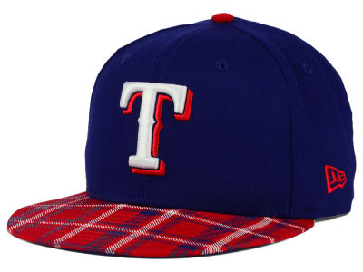 Texas Rangers New Era MLB Team Plaid 9FIFTY Snapback Cap