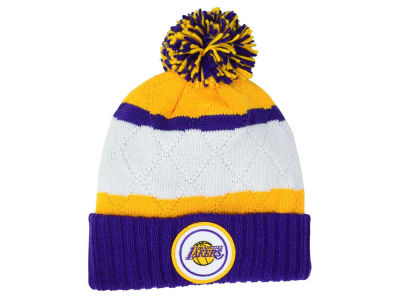 Los Angeles Lakers Mitchell & Ness NBA Quilted Hi Five Knit