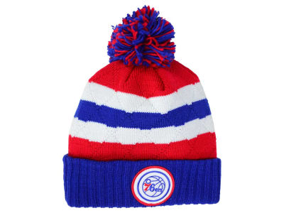 Philadelphia 76ers Mitchell and Ness NBA Quilted Hi Five Knit