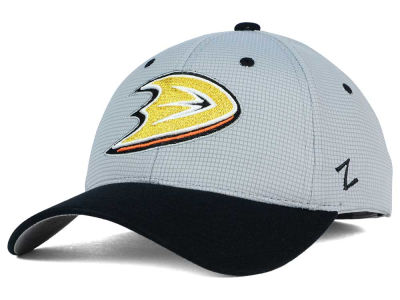 Anaheim Ducks Zephyr NHL Gray Grid Flex Hat