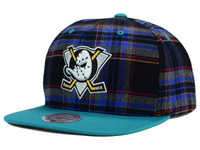 Anaheim Ducks Reebok NHL Plaid Snapback Cap