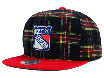 New York Rangers Reebok NHL Plaid Snapback Cap