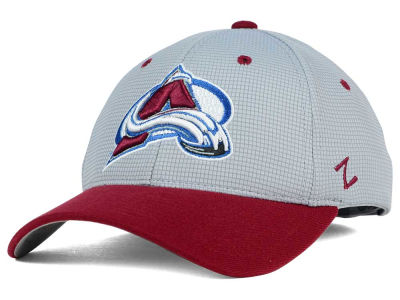 Colorado Avalanche Zephyr NHL Gray Grid Flex Hat