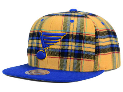 St. Louis Blues Reebok NHL Plaid Snapback Cap