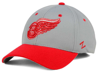 Detroit Red Wings Zephyr NHL Gray Grid Flex Hat