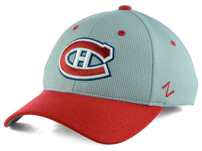 Montreal Canadiens Zephyr NHL Gray Grid Flex Hat