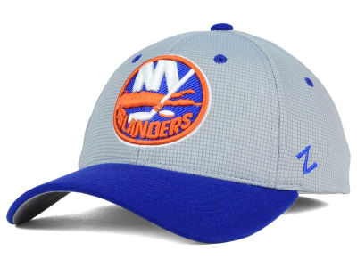 New York Islanders Zephyr NHL Gray Grid Flex Hat