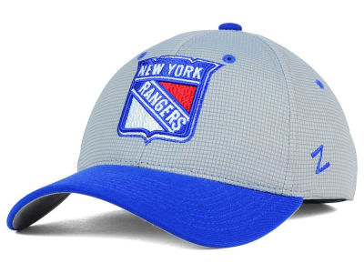 New York Rangers Zephyr NHL Gray Grid Flex Hat
