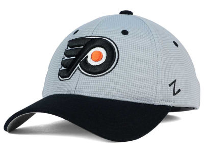 Philadelphia Flyers Zephyr NHL Gray Grid Flex Hat