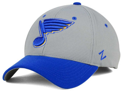 St. Louis Blues Zephyr NHL Gray Grid Flex Hat