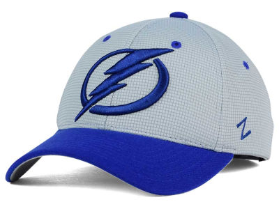 Tampa Bay Lightning Zephyr NHL Gray Grid Flex Hat