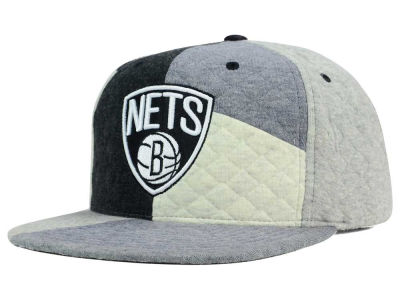 Brooklyn Nets Mitchell and Ness NBA Fleece Slasher Snapback Cap