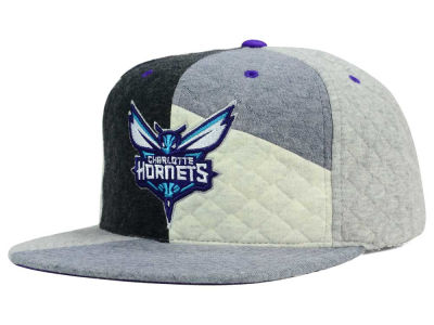 Charlotte Hornets Mitchell and Ness NBA Fleece Slasher Snapback Cap