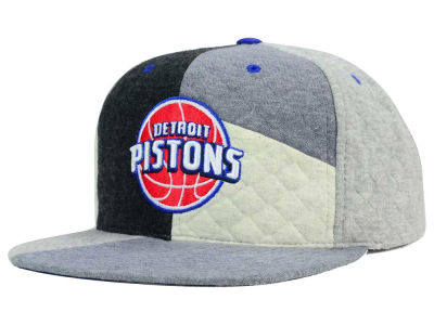 Detroit Pistons Mitchell and Ness NBA Fleece Slasher Snapback Cap