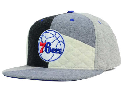 Philadelphia 76ers Mitchell and Ness NBA Fleece Slasher Snapback Cap