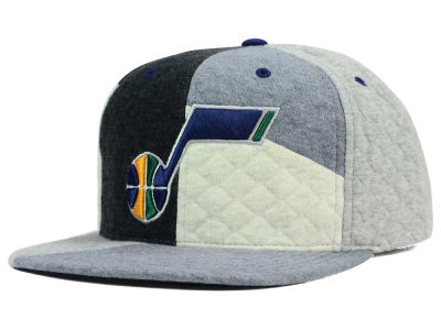 Utah Jazz Mitchell and Ness NBA Fleece Slasher Snapback Cap