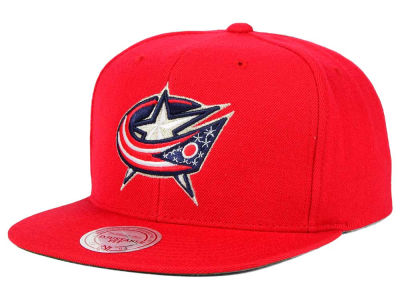 Columbus Blue Jackets Reebok NHL Wool Solid Snapback Cap