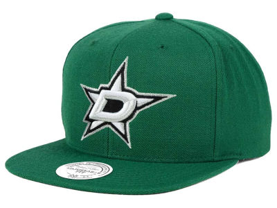 Dallas Stars Reebok NHL Wool Solid Snapback Cap