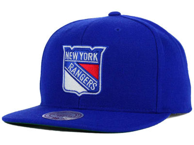 New York Rangers Reebok NHL Wool Solid Snapback Cap