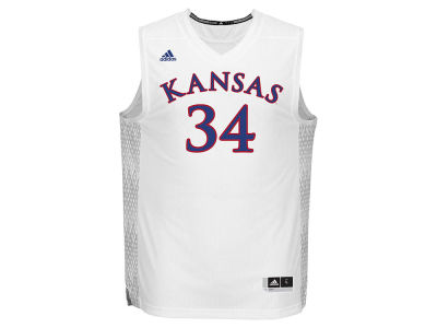 Kansas Jayhawks adidas NCAA Men's Iced Out Replica Basketball Jersey