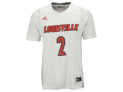 Louisville Cardinals adidas NCAA Men's Iced Out Replica Basketball Jersey
