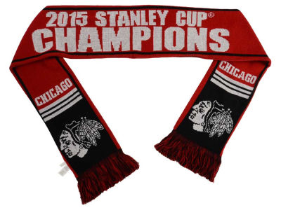 Chicago Blackhawks NHL 2015 Stanley Cup Champ Event Wordmark Scarf