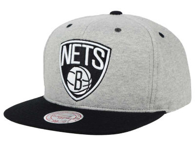 Brooklyn Nets Mitchell and Ness NBA Heather Jersey Snapback Cap