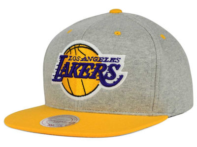 Los Angeles Lakers Mitchell and Ness NBA Heather Jersey Snapback Cap